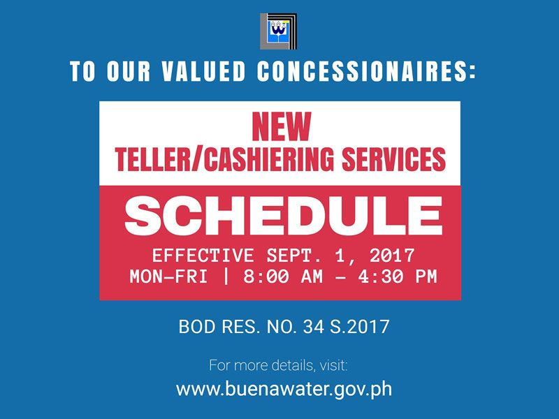 buenavista water district teller and collection schedule image