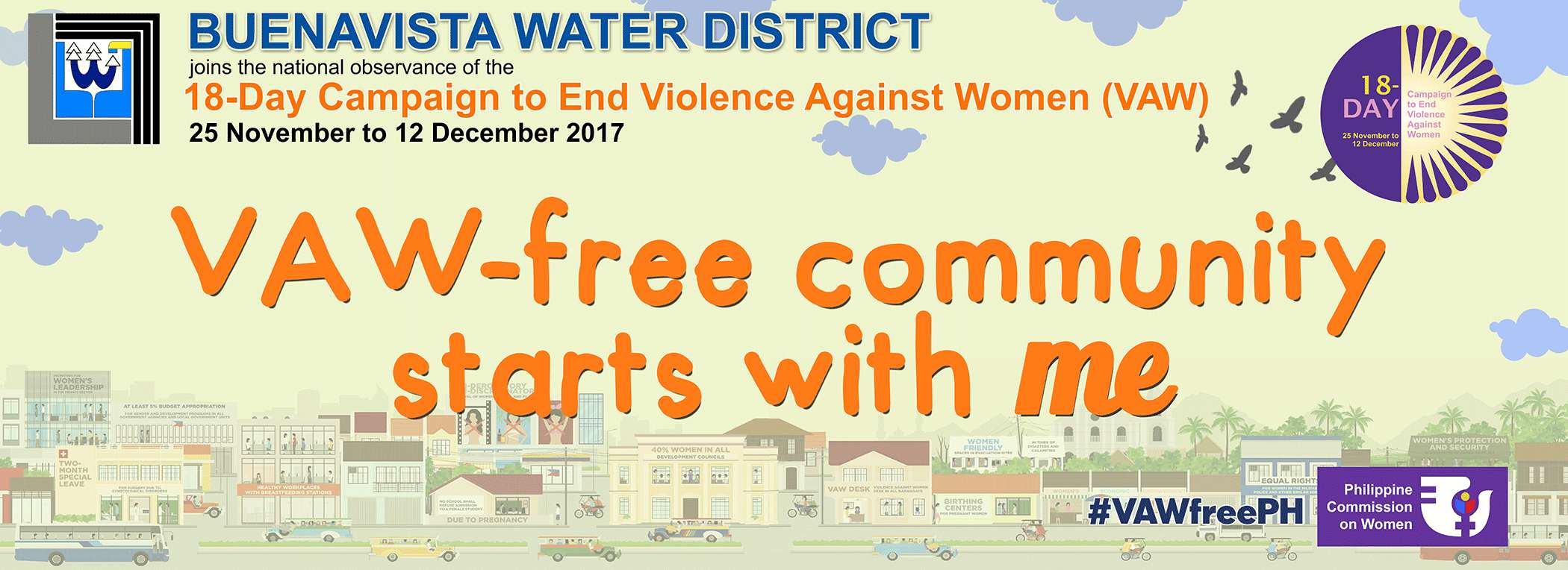 Buenavista Water District joins the 18-day Campaign to End Violence Against Women (VAW)