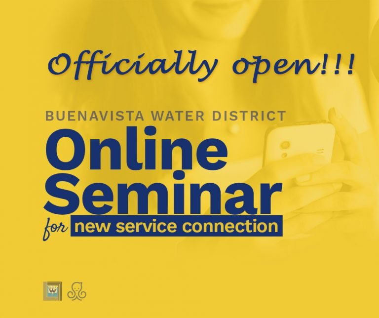 Buenavista Water District Online New Service Seminar